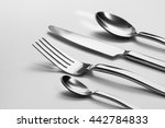 cutlery set with fork  knife... | Shutterstock . vector #442784833