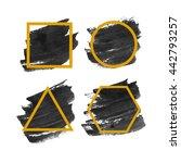 set of original grunge acrylic... | Shutterstock .eps vector #442793257