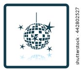 night clubs disco sphere icon.... | Shutterstock .eps vector #442802527