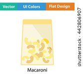 macaroni package icon. flat...