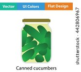canned cucumbers icon. flat...