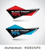 black friday bubbles in origami ... | Shutterstock .eps vector #442814293