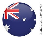australia flag button | Shutterstock .eps vector #442842247