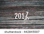happy new year 2017  coming to... | Shutterstock . vector #442845007