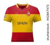 soccer shirt in colors of... | Shutterstock .eps vector #442847473