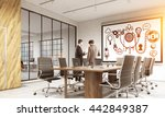 startup concept with sketch on... | Shutterstock . vector #442849387