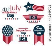 fourth of july independence day.... | Shutterstock .eps vector #442849723
