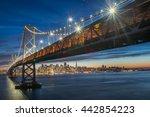 beautiful momoent of bay bridge ...   Shutterstock . vector #442854223