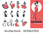 large fashion  dress and beauty ... | Shutterstock .eps vector #442861903