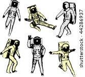 astronauts | Shutterstock .eps vector #44286937