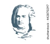portrait of the composer and... | Shutterstock .eps vector #442870297