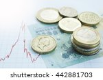 Euro Coins Piles On Europe Map...