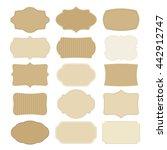set of blank vintage frames ... | Shutterstock .eps vector #442912747