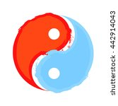 yin and yang  water and fire...   Shutterstock .eps vector #442914043