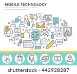 mobile technology background ... | Shutterstock .eps vector #442928287