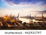 container cargo freight ship... | Shutterstock . vector #442931797
