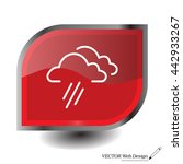 cloud rain line icon | Shutterstock .eps vector #442933267