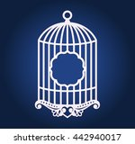 birdcage wedding decor for... | Shutterstock .eps vector #442940017