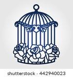 laser cut wedding birdcage with ...