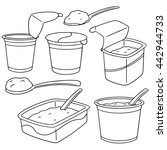 vector set of yogurt | Shutterstock .eps vector #442944733