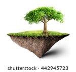 island floating 3d illustration   Shutterstock . vector #442945723