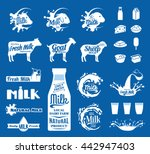 vector milk  yogurt or cream... | Shutterstock .eps vector #442947403