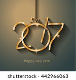 2017 happy new year background...   Shutterstock .eps vector #442966063