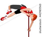 athletics pole vault sportsman... | Shutterstock .eps vector #442985563