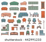 icons of various kinds of... | Shutterstock .eps vector #442991233