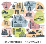 icon architectural monuments... | Shutterstock .eps vector #442991257
