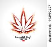 cannabis leaf vector   Shutterstock .eps vector #442992127