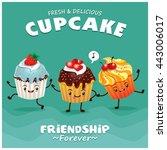 vintage cupcake poster design... | Shutterstock .eps vector #443006017