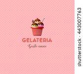 italian ice cream logo. letters ...   Shutterstock .eps vector #443007763