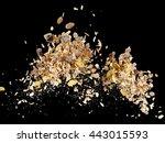 muesli with raisins explosion | Shutterstock . vector #443015593