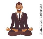 businessman meditating. concept ... | Shutterstock .eps vector #443038603