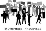 manifestation   a group of... | Shutterstock .eps vector #443054683