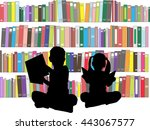 Silhouettes Of Children With...