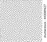 vector seamless stippling dots... | Shutterstock .eps vector #443089627