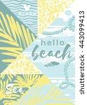 abstract summer composition... | Shutterstock .eps vector #443099413