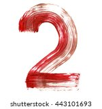 The Number 2 Drawn With Red...