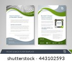 front and back page brochure... | Shutterstock .eps vector #443102593
