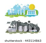 vector illustration panorama of ... | Shutterstock .eps vector #443114863