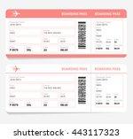 blank plane tickets for... | Shutterstock .eps vector #443117323