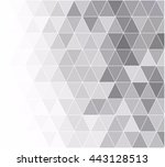 gray white grid mosaic... | Shutterstock .eps vector #443128513