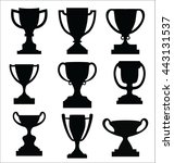 award cups and trophy icons | Shutterstock .eps vector #443131537