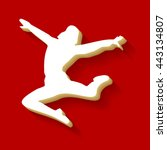 dancer sign illustration. white ...   Shutterstock .eps vector #443134807