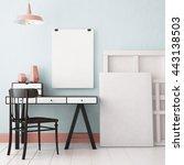 3d illustration interior.... | Shutterstock . vector #443138503