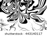 hand drawn abstract marble... | Shutterstock .eps vector #443140117