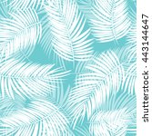 palm leaf vector seamless... | Shutterstock .eps vector #443144647