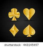vector gambling card symbols in ... | Shutterstock .eps vector #443145457